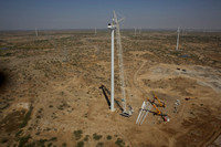 Wind turbines erection in Kutch Gujarat